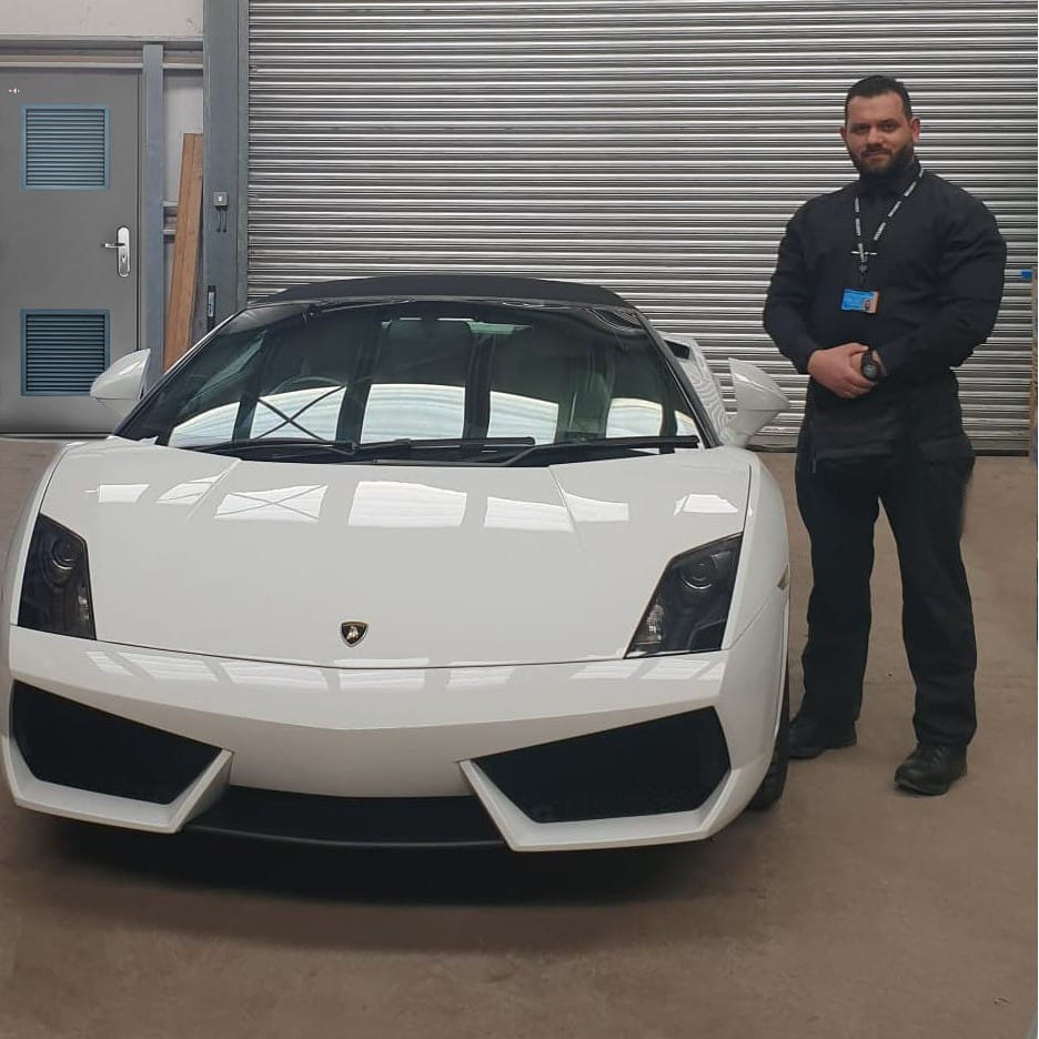 Luxury supercar protection as part of our asset protection services in London and the UK